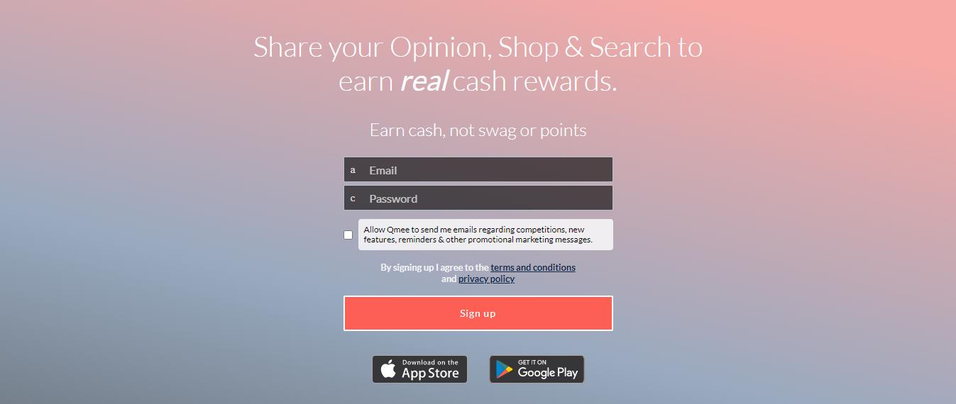 Take survey and earn a reward