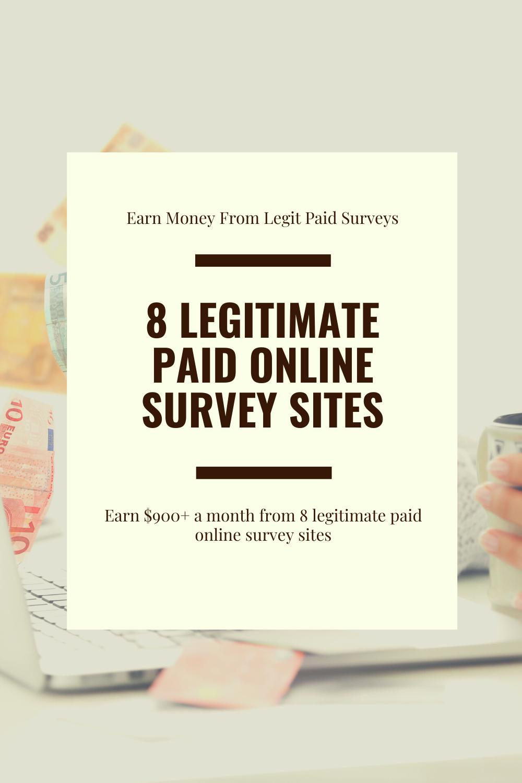 Legitimate paid online survey sites