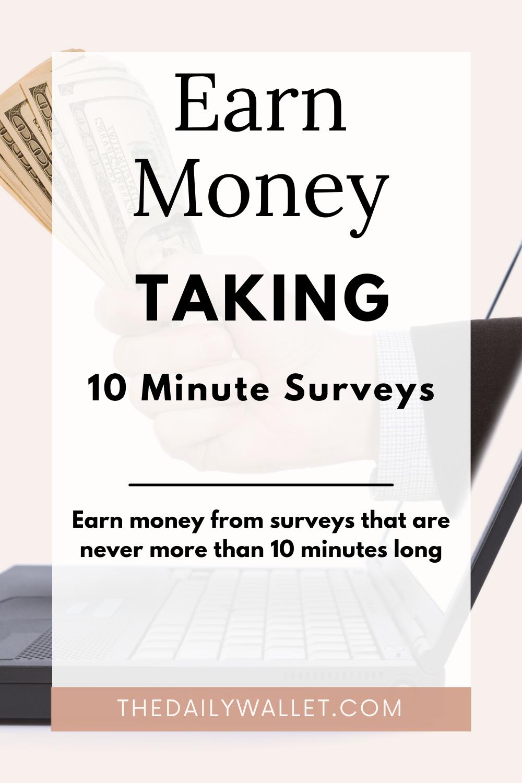 Take short surveys for money